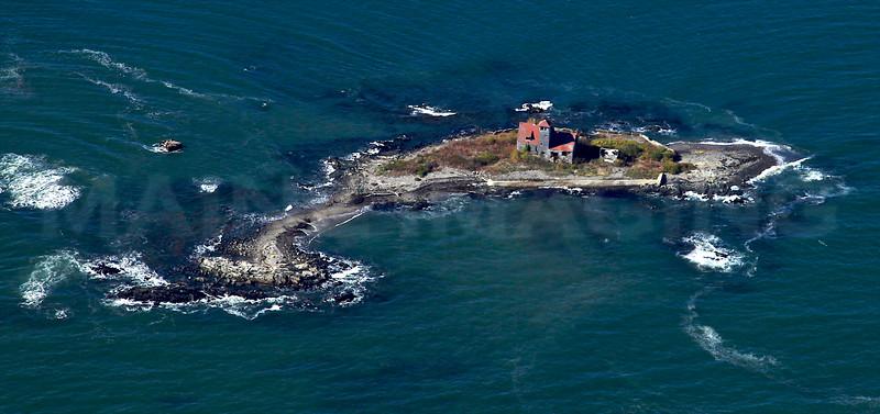 Wood Island Lifesaving Station.  Southwest of Gerrish Island.  Kittery, Maine.