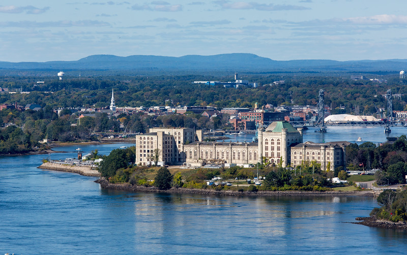 MIP AERIAL PORTSMOUTH NAVAL PRISON KITTERY ME-1063