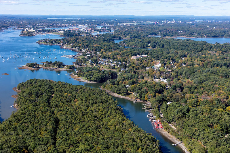 MIP AERIAL CHAUNCY CREEK KITTERY POINT ME-3967