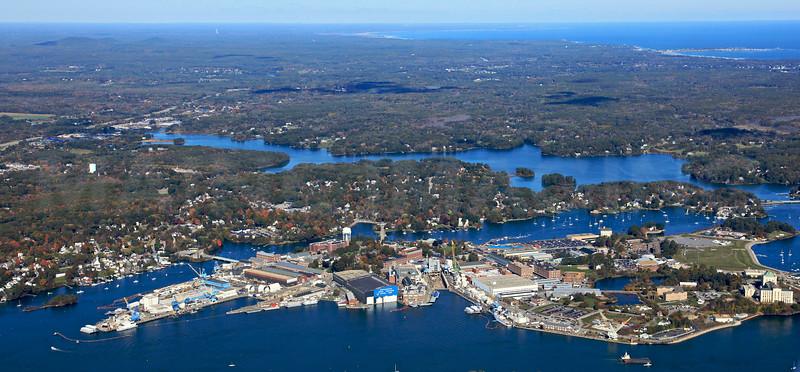 Seavey Island, Kittery Foreside, Spruce Creek.  Kittery, Maine.