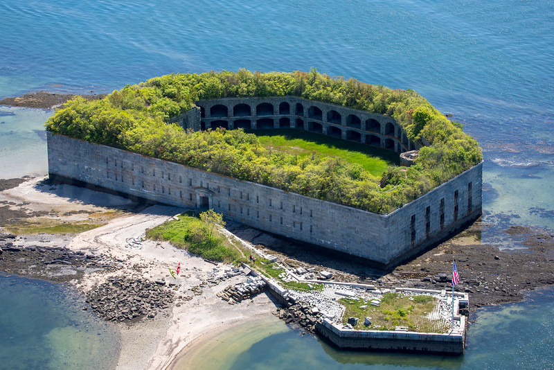 MIP AERIAL FORT GORGES CASCO BAY ME 1517