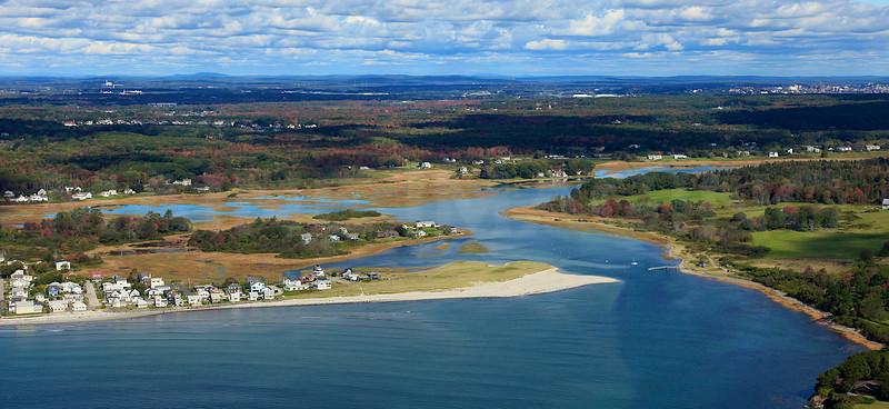Higgins Beach, Spurwink River.  Scarborough, Maine.