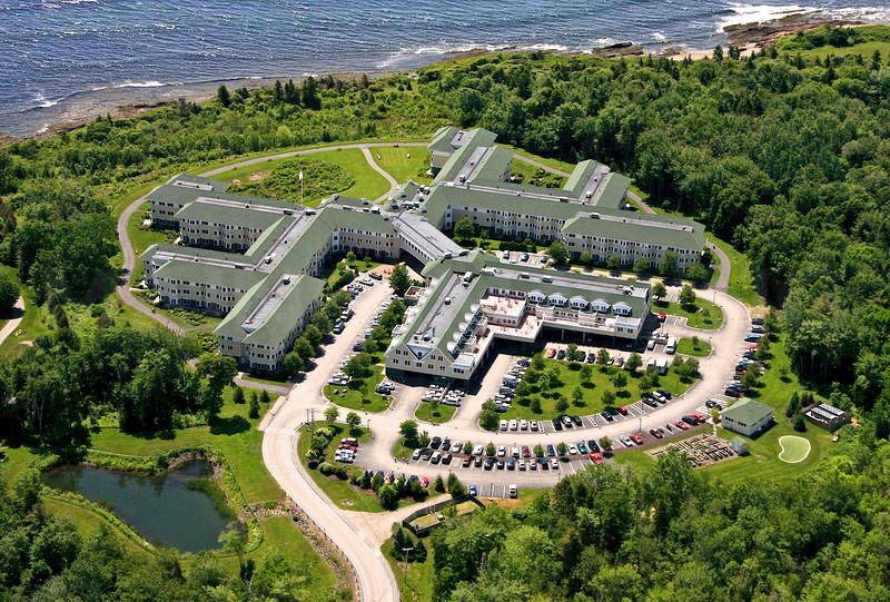 Atlantic House Condominiums, from the North.  Scarborough, Maine.