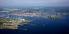 South Portland, Portland, and Casco Bay, Maine.