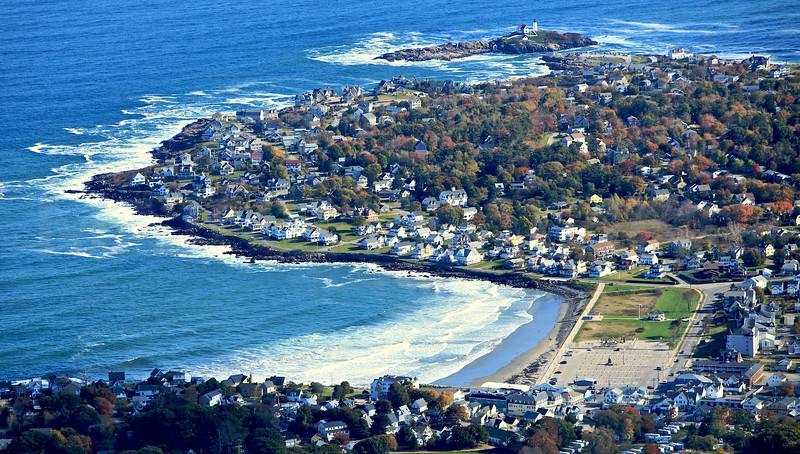 York Beach, Cape Neddick, Cape Neddick Lighthouse.  York, Maine.