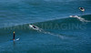 MIP AERIAL SURFERS PADDLE BOARDERS LONG SANDS BEACH YORK ME-4972