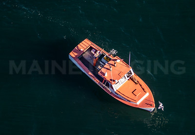 MIP AERIAL LOBSTER BOAT BAILEY ISLAND MAINE-3315