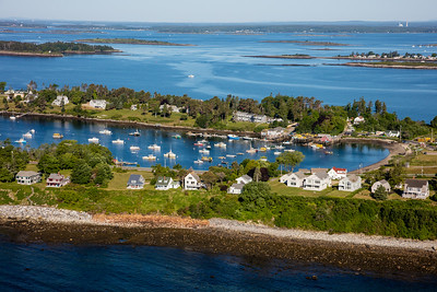 MIP AERIAL LOBSTER BOAT BAILEY ISLAND MAINE-3319