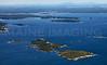 Fisherman's Island, Ram Island, Damariscotta River, and Johns Bay.  Boothbay Harbor, Maine.