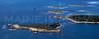 Cape Island, Trott Island, Goat Island, Folly Island.  Cape Porpoise, Kennebunkport, Maine.