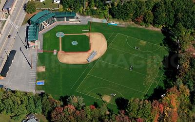 "Goodall Park.  Sanford, Maine.  Home of the ""sanford Mainers""  baseball club."