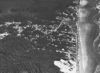 Manzanita from the north, taken 1950 by Boersig aerial studios.