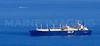 A tanker waits for entry to Boston Harbor.  Outer Boston Harbor, Massachusetts.