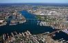 The Tobin Bridge carries Traffic over the Mystic River.  East Boston, MA.