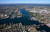Charlestown, The Mystic River, the Tobin Bridge, and Chelsea, MA.