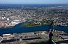 The Mystic River, the Tobin Bridge, and Chelsea, MA.