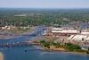 The Lynnway, Saugus River, and Lynn, Massachusetts.
