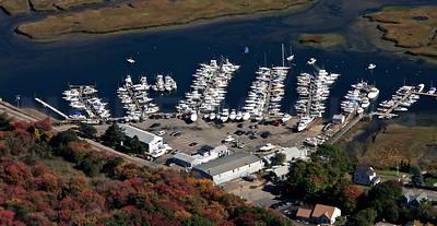 Green Harbor Marina, from the West.  Marshfield, MA.