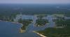 Waquoit Bay, Hamblin Pond, and Jehu Pond.  Mashpee, Mass.