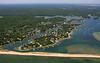 Popponesset Bay, Popponesset Island, and Popponesset Beach.  Mashpee, Mass.