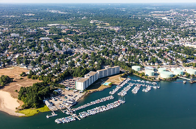 MIP AERIAL CAPTAINS COVE MARINA QUINCY MA-1360