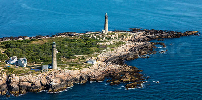 MIP AERIAL THATCHERS ISLAND TWIN LIGHTS ROCKPORT  MA-2990