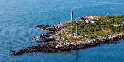MIP AERIAL THATCHERS ISLAND TWIN LIGHTS ROCKPORT  MA-2980