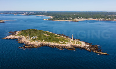 MIP AERIAL THATCHERS ISLAND TWIN LIGHTS ROCKPORT  MA-2987