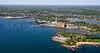 Winter Island, Cat Cove, Salem Harbor Power Station, and Salem Harbor.  Salem, Massachusetts.