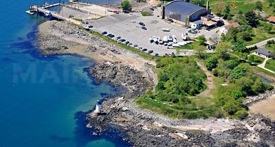 Winter Island, Fort Pickering Light, and the Salem Boat Launch.  Salem, Massachusetts.