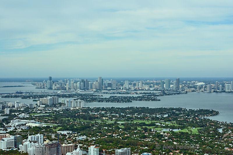 Miami Beach (foreground) - Miami (back)