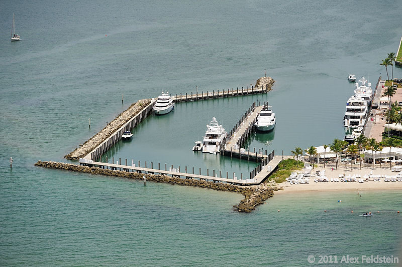 The dock at Fisher Island