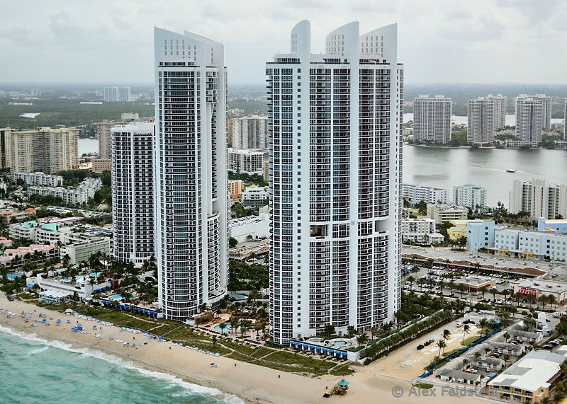 Trump Palace towers in <br /> Sunny Isles Beach