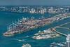 Port of Miami<br /> USCG Miami Station in front