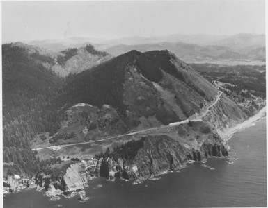 Newahkahnie Mountain as seen in 1950 by Boersig aerial stuidos.