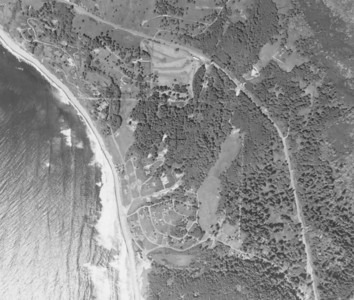 Taken 1953 for Crown Zellerbach Corporation. Outlines of a golf course (now Neahkahnie Meadow development) have begun to appear.