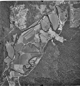 Aldervale area near bottom of image, Riverside Estates near top. Taken 1960 for Crown Zellerbach Corporation.
