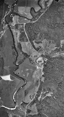 Aldervale bridge and junction near top of image. Taken 1960 for Crown Zellerbach Corporation.