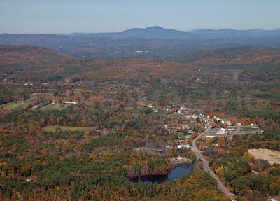 Fall Foliage, streams and ponds.  Near Concord, New Hampshire.  9079