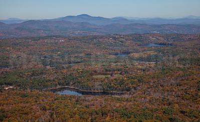 Fall Foliage, streams and ponds.  Near Concord, New Hampshire.   9070