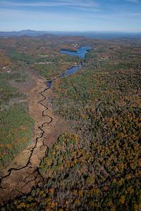 Fall Foliage, streams and ponds.  Near Concord, New Hampshire. 9074