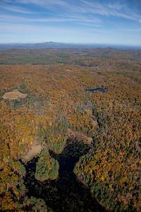 Fall Foliage, streams and ponds.  Near Concord, New Hampshire.   9067