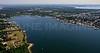 Popasquash Neck and Bristol Harbor.  Bristol, Rhode Island.