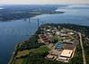 Roger Williams University and the Mount Hope Bridge.  Bristol, Rhode Island.