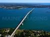 The Newport Bridge from Jamestown, Rhode Island.