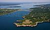 Southwest Point and Mackerel Cove.  Jamestown, Rhode Island.