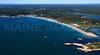 Canonchet Beach Club and Narragansett Town Beach.  Narragansett, Rhode Island.