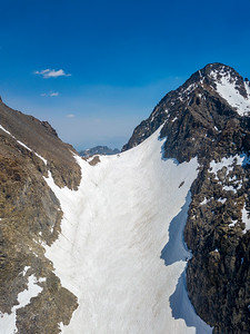 Backside Chute and Mount Ritter - Ansel Adams Wilderness