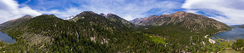 Twin Lakes Panorama Aerial - Hoover Wilderness