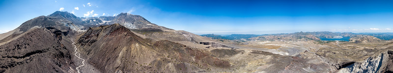 Mount St  Helens 360 Aerial Panorama - Mount St  Helens